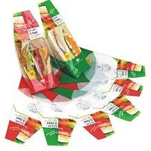 三明治袋工廠[ 精緻三明治袋 ]斜口 #60紅/綠(100只/1包)&一箱10000只=7500元(免運費)最便宜!