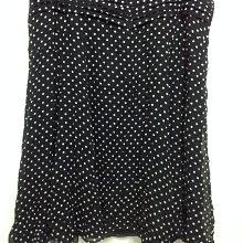 美國品牌NINE WEST 大尺碼黑色水玉點點100% 蠶絲 真絲 SILK 飄逸長裙