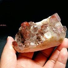 金字塔水晶~幽靈紅水晶(Quartz with Inclusions)-【幻影紅水晶】~漂亮紅水晶美極晶礦~收藏級