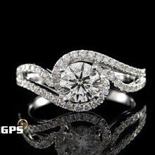 【永久流當品】《EGPS》天然鑽石 鑽戒 鑽石戒指 白K金 主石重0.50CT 圓鑽 女戒 K金鑽戒 OO8624