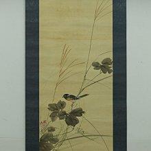 日本老字畫 雀鳥圖