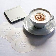 【英國aerolatte】拉花模具 印花模具 拿鐵 卡布 花式 咖啡拉花 印花模 糖粉篩 烘焙西點裝飾 噴花模
