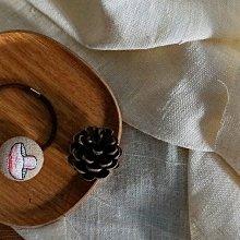 MH 京東都 日本製 麻面 菇菇 刺繡 髮式 髮束