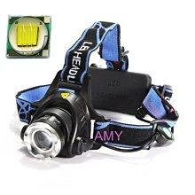 爆亮T6  LED 變焦頭燈 手電筒/維修/停電/登山露營 全配含18650鋰電池 2顆+充電線 非Q5L2P50手電筒