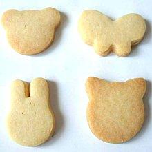 小熊+兔子+小貓+蝴蝶(4隻20元)手工餅乾~小朋友生日派對,婚禮小物,同樂會,耶誕派對╭ 蓁橙烘焙 ╮