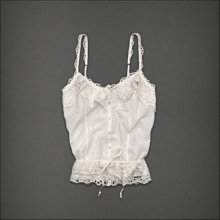美國Abercrombie & Fitch A&F 女裝Michelle S號奶油白優雅氣質清涼背心含運在台