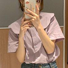新品特價至6/25調回原價690法式復古風上衣 娃娃領設計感短袖襯衫 艾爾莎【TAE8844】