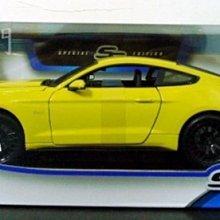 *雜貨部門*超跑 跑車 骨董車 模型車 1/18 Maisto 2015 福特 野馬 GT 黃 特價851元起標就賣一