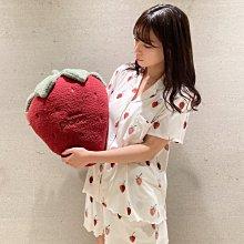 G429 手繪草莓 短袖襯衫+短褲 套裝 居家服 休閒服 睡衣 gelato pique
