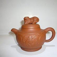 茶壺.紫砂壺.朱泥壺.手拉坯壺/早期臥虎藏龍壺