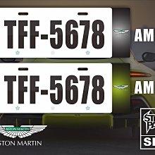 【STREET PARK】訂製 歐盟 車牌裝飾  Aston Martin 【原價780$ 特價 580$】