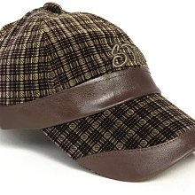 帽子專賣店【STAR秋冬率性造型☆R260-3☆優質絨面格紋棒球帽】