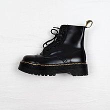 Dr. Martens 1460 8孔 黑色 硬皮 鞋舌拉鏈 厚底 短筒 經典款 馬汀靴 女鞋