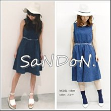 山東:MURUA日本四月春夏新款 無袖雪花點點流蘇牛仔洋裝 MOUSSY SLY EMODA 160421
