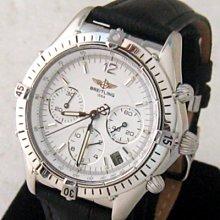 順利當舖  BREITLING/百年靈  稀有中型男女通用三盤計時運動潛水自動錶款