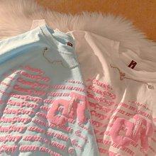 【2A Two】3色💛浮雕字母棉質T恤 大碼可『BC00228』