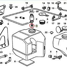 E30 E36 E46 E90 雨刷噴水馬達橡皮 噴水桶 橡皮塞 (有孔.有無濾網都可用) 原廠 61661365657