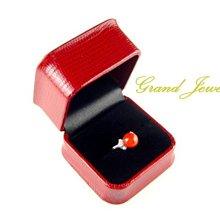 桃紅珊瑚 圓珠 momo 鑽石戒指 18K白金 附保證書【大千珠寶】