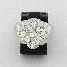 順利當舖  超白特殊設計菱型男女通用豪華鑽戒