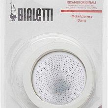 義大利 Bialetti  9人份  經典摩卡壺 原廠墊圈x 3個  濾片x1