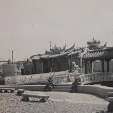 澎湖,觀音亭,老廟,古董黑白,照片,相片