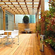 庭院 露台 玻璃 採光罩 遮雨棚 雨遮 遮陽棚 圍牆 圍籬 地板 花台 南方松【園匠工坊】免費估價