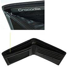 【DREAM包包館】Crocodile 鱷魚 真皮 男短夾 10卡相片零錢袋 男用短夾/男用皮夾 0203-11011