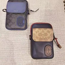 Coach蔻馳89263 89479專櫃pacer小斜挎零錢包手機包 斜背包 手拿包