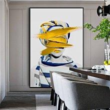 C - R - A - Z - Y - T - O - W - N 時尚抽象人物裝飾畫金屬框藝術畫個性創意人物巨幅掛畫