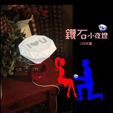鑽石小夜燈(USB插頭供電)