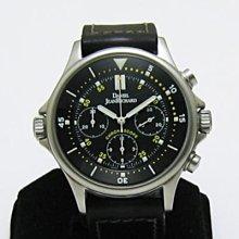 順利當舖  DANIEL JEANRICHARD/尚維沙 稀有43mm大錶徑4把頭多功能計時運動型男錶