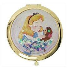 天使熊雜貨小舖~日本帶回迪士尼愛麗絲夢遊仙境摺疊隨身鏡   全新現貨