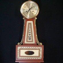 西風((( 50年代 SETH THOMAS 托馬斯班卓琵琶型木製壁掛鐘 )))