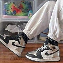 NIKE AJ1 Air Jordan 1 High 復古 高幫 液態銀 黑灰 籃球鞋 CD0461-001 男女款