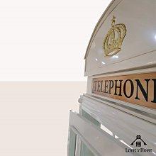 (台中 可愛小舖)英式復古鄉村風紅色大電話亭鐵製黃冠TELEPHONE裝飾擺飾飾品擺件攝影道具婚紗店觀光景點園區飯店民宿