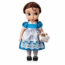 【100%美國迪士尼正品】Disney Princess Belle 美女與野獸 Q版貝兒公主大眼娃娃玩偶