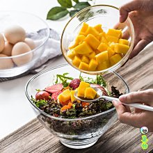 (2件免運)家用簡約水果沙拉碗創意透明水晶玻璃碗甜品碗歐式小碗蔬菜麥片碗 集物生活