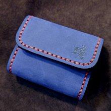 KH手工皮革工作室 MIT台灣製造純手作牛皮零錢包鈔票身份證件信用卡悠遊卡名片皮件側邊水滴造型設計皮革縫線顏色自選可燙字