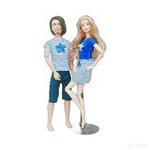 芭比 肯尼 星星 條紋 情侶裝 情侶衣 情侶 藍色  娃娃 服裝 衣服