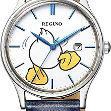 日本正版 CITIZEN 星辰 REGUNO KH2-910-10 迪士尼 唐老鴨 男錶 太陽能充電 皮革錶帶 日本代購