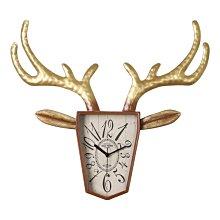 〖洋碼頭〗美式鹿頭掛鐘客廳創意個性掛表北歐餐廳大氣復古時鐘靜音石英鐘表 ogh157
