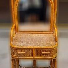 樂居二手家具 便宜2手傢俱拍賣 B1026AJJH 藤製化妝台 中古鏡台 化妝桌 梳妝台 中古臥室家具 台北新竹
