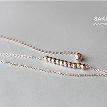玫瑰金腳鏈-阪堂SAKADO-韓版設計師款--豆豆串