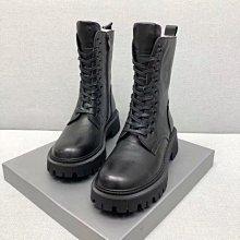 牛皮馬丁靴 DANDT 時尚潮流厚底拉鍊馬丁靴(20 NOV 38021022)風格請在賣場搜尋SHO或外銷女鞋