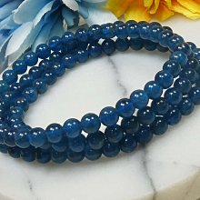 《精品百貨》天然頂級藍磷灰繞三圈手鍊/隨機出貨~重量:25.5g