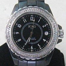 順利當舖 HOGA/皇爵  瑞士原裝高硬度黑陶瓷豪華男鑽錶