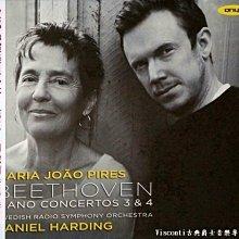 @【Onyx】貝多芬:第三,四號鋼琴協奏曲(Maria Joao Pires畢麗絲,哈丁,瑞典廣播交響樂團)
