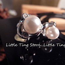 Little Ting Store 母親節禮物SWAROVSKI水滴鑽珍珠貼耳水鑽 螺旋夾式栓式貼耳環