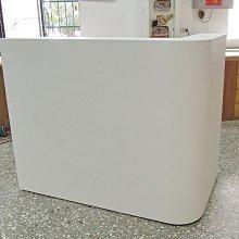 《全一》白色L型圓弧櫃檯 補習班 飲料吧台百貨公司道具櫃 形象櫥櫃 咖啡館吧台訂做!