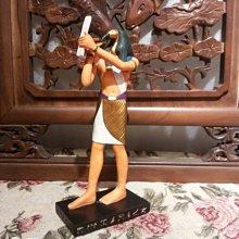 [ Vero 手工彩繪-托特神21.CM 神話中智慧和學習之神]-雕像 擺飾-Egypt 埃及古文明.【預訂品】-仿古